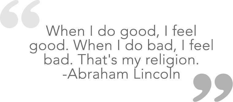 when i do good....
